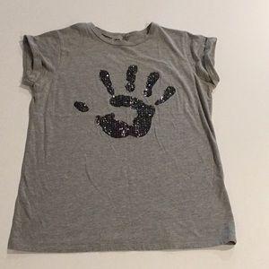 Women's Cuffed-sleeve embellished ASOS t-shirt